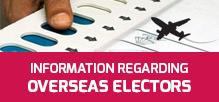 Information regarding Overseas Electors